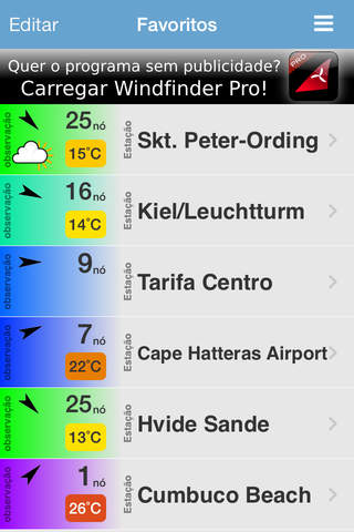 Imagem do aplicativo Windfinder